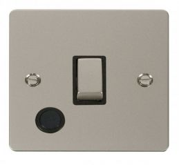 Scolmore Click Define FPPN522BK Ingot 20A 1 Gang DP Switch + Flex Outlet - Black