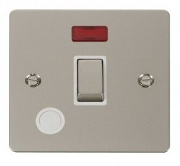 Scolmore Click Define FPPN523WH Ingot 20A 1 Gang DP Switch + Flex Outlet + Neon - White