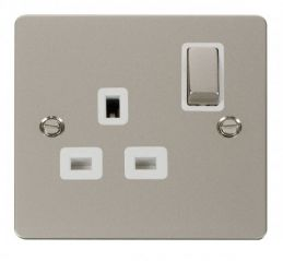 Scolmore Click Define FPPN535WH Ingot 1 Gang 13A DP Switched Socket - White
