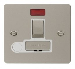 Scolmore Click Define FPPN552WH Ingot 13A Switched Connection Unit + Flex Outlet + Neon - White