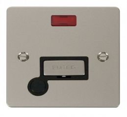 Scolmore Click Define FPPN553BK Ingot 13A Connection Unit + Flex Outlet + Neon - Black
