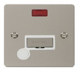 Scolmore Click Define FPPN553WH Ingot 13A Connection Unit + Flex Outlet + Neon - White
