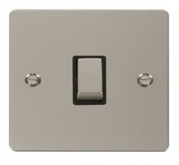 Scolmore Click Define FPPN722BK Ingot 20A 1 Gang DP Switch - Black