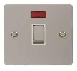Scolmore Click Define FPPN723WH Ingot 20A 1 Gang DP Switch + Neon - White