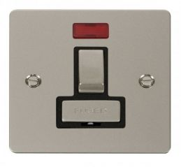 Scolmore Click Define FPPN752BK Ingot 13A Switched Connection Unit + Neon - Black