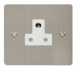 Scolmore Click Define FPSS038WH 5A Round Pin Socket Outlet - White