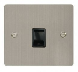 Scolmore Click Define FPSS115BK Single RJ11 Socket (Ireland/USA) - Black