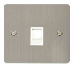 Scolmore Click Define FPSS115WH Single RJ11 Socket (Ireland/USA) - White