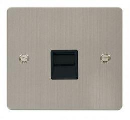 Scolmore Click Define FPSS120BK Single Telephone Socket Master - Black