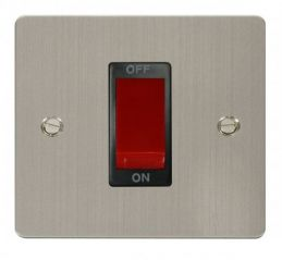 Scolmore Click Define FPSS200BK 1 Gang 45A DP Switch - Black