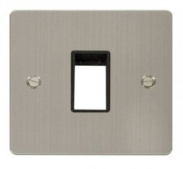 Scolmore Click Define FPSS401BK 1 Gang Plate Single Switch Aperture - Black