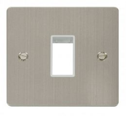 Scolmore Click Define FPSS401WH 1 Gang Plate Single Switch Aperture - White