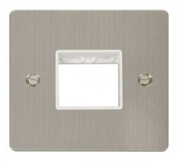 Scolmore Click Define FPSS402WH 1 Gang Plate Twin Switch Aperture - White