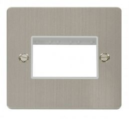 Scolmore Click Define FPSS403WH 1 Gang Plate Triple Switch Aperture - White