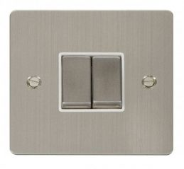 Scolmore Click Define FPSS412WH Ingot 10AX 2 Gang 2 Way Switch - White