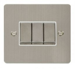 Scolmore Click Define FPSS413WH Ingot 10AX 3 Gang 2 Way Switch - White