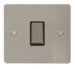 Scolmore Click Define FPSS425BK Ingot 10AX 1 Gang Intermediate Switch - Black