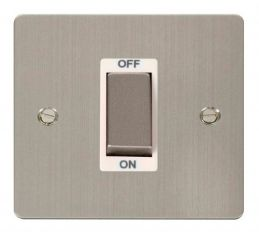 Scolmore Click Define FPSS500WH 1 Gang 45A Ingot DP Switch - White