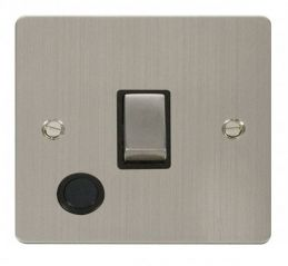 Scolmore Click Define FPSS522BK Ingot 20A 1 Gang DP Switch + Flex Outlet - Black
