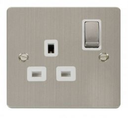 Scolmore Click Define FPSS535WH Ingot 1 Gang 13A DP Switched Socket - White