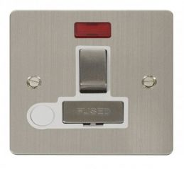 Scolmore Click Define FPSS552WH Ingot 13A Switched Connection Unit + Flex Outlet + Neon - White