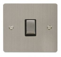 Scolmore Click Define FPSS722BK Ingot 20A 1 Gang DP Switch - Black