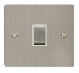 Scolmore Click Define FPSS722WH Ingot 20A 1 Gang DP Switch - White