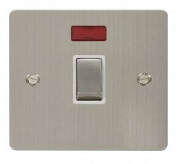 Scolmore Click Define FPSS723WH Ingot 20A 1 Gang DP Switch + Neon - White