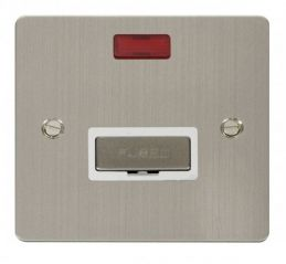 Scolmore Click Define FPSS753WH Ingot 13A Connection Unit + Neon - White