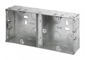 Appleby APP676 2 Gang 25mm Deep Dual Galvanised Steel Box