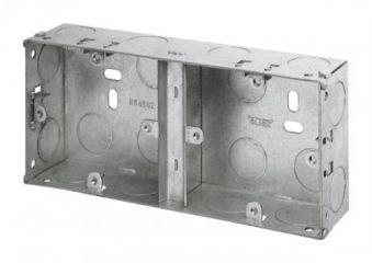 Appleby APP676 2 Gang 25mm Deep Dual Galvanised Steel Box