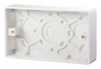 Scolmore Click Mode CMA082 2 Gang 25mm Deep Pattress Box