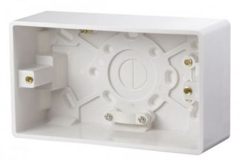 Scolmore Click Mode CMA086 2 Gang 47mm Deep Pattress Box With Cable Restraint