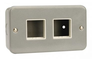CL404 2 Gang Switch Plate - 2+2 Aperture