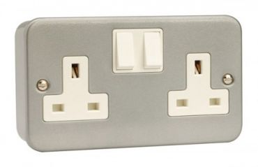 CL036 2 Gang 13A DP Switched Socket Outlet