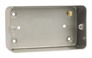 CL086 2 Gang Mounting Box (As CL084 But Without Knockouts)