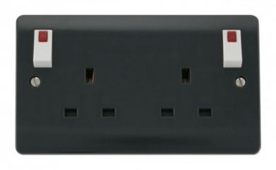 CMA840AG 13A 2 Gang DP (O/B) Switched Socket Outlet with Neons