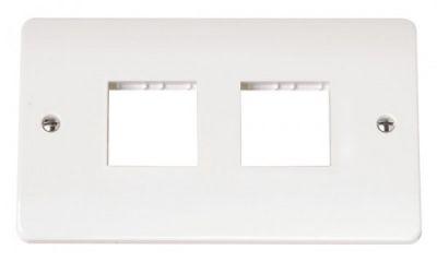 Scolmore Click Mode CMA404 Twin Plate 2 X 2 Aperture