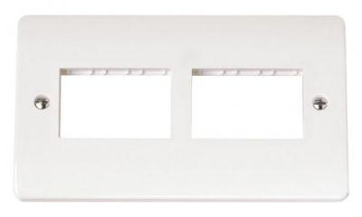 Scolmore Click Mode CMA406 Twin Plate 2 X 3 Aperture