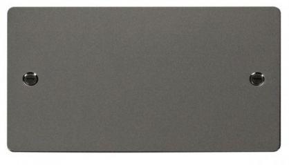 Scolmore Click Define FPBN061 2 Gang Blank Plate