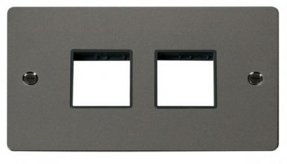 Scolmore Click Define FPBN404BK 2 Gang Plate (2+2) Switch Aperture