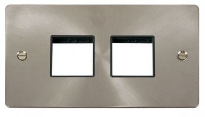 Scolmore Click Define FPBS404BK 2 Gang Plate (2+2) Switch Aperture - Black
