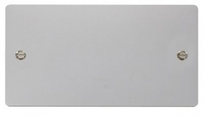 Scolmore Click Define FPCH061 2 Gang Blank Plate