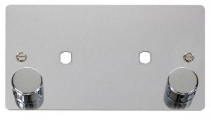 Scolmore Click Define FPCH186 2 Gang Plate 2 Module (1630W Max)