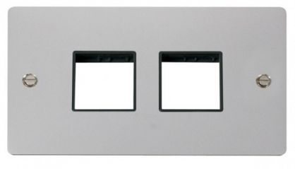 Scolmore Click Define FPCH404BK 2 Gang Plate (2+2) Switch Aperture - Black