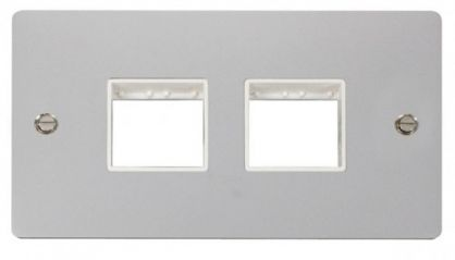 Scolmore Click Define FPCH404WH 2 Gang Plate (2+2) Switch Aperture - White