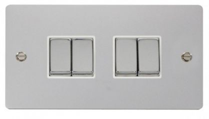 Scolmore Click Define FPCH414WH Ingot 10AX 4 Gang 2 Way Switch - White