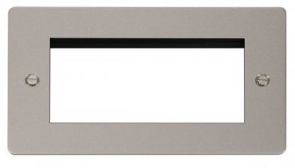 Scolmore Click Define FPPN312 2 Gang Quad Media Module Aperture
