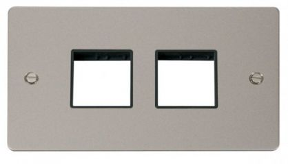 Scolmore Click Define FPPN404BK 2 Gang Plate (2+2) Switch Aperture - Black
