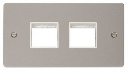 Scolmore Click Define FPPN404WH 2 Gang Plate (2+2) Switch Aperture - White